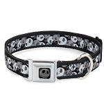 Disney Designer Pet Collar - Jack Skellington Collage of Faces - Monochrome