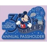 Disney Pin - Hollywood Studios 30 Years - Passholder