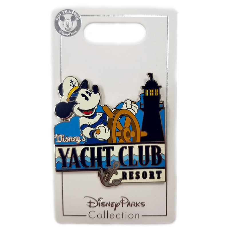 Disney Yacht Club Resort Pin - Mickey Mouse At The Helm
