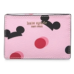 Disney Kate Spade Wallet - Mickey Mouse Ear Hat Credit Card Case - Pink