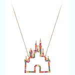 Disney Crislu Necklace - Rainbow Collection - Fantasyland Castle