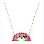 Disney Crislu Necklace - Rainbow Collection - Mickey Mouse