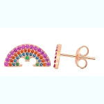 Disney Crislu Earrings - Rainbow Collection - Mickey Mouse