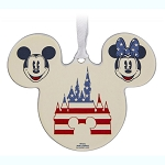 Disney Ornament - Americana Mickey & Minnie - Fantasyland Castle