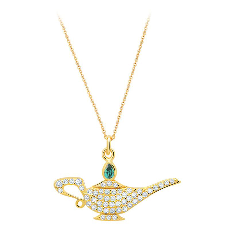 Disney Crislu Necklace - Genie Lamp