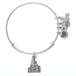 Disney Alex and Ani Bracelet - Cinderella Castle - Silver