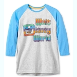 Disney Adult Baseball Shirt - Retro Walt Disney World Logo