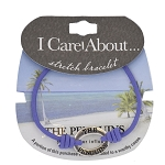 SeaWorld Stretch Bracelet - I Care About the Penguins - Purple