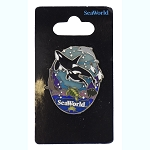 SeaWorld Pin - Underwater life - 3D Killer Whales