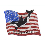 SeaWorld Magnet - Shamu USA Flag