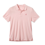 Disney Men's Shirt - Mickey Mouse - Pima Cotton Polo - Pink