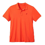 Disney Men's Shirt - Mickey Mouse - Pima Cotton Polo - Nectarine