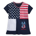 Disney Girls Shirt - Americana Minnie Mouse