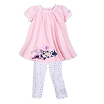 Disney Infant Top & Leggings Set - Minnie Mouse Figaro & Fantasyland Castle