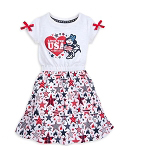 Disney Girls Dress - Americana Minnie Mouse