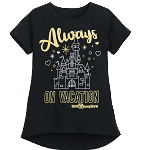 Disney Girls Shirt - Always on Vacation - Walt Disney World