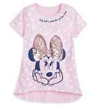 Disney Girls Shirt - Minnie Mouse Reversible Sequins- Who Needs a Crown When You Have a Bow?