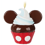 Disney Ornament - Mickey Cupcake