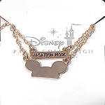 Disney Necklace - Vacation Mode - Mickey Ear Hat Icon - Rose Gold