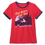 Disney Women's Shirt - I'm Here For The Photos