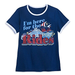 Disney Women's Shirt - I'm Here For The Rides