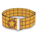 Disney Designer Cinch Waist Belt - Sheriff Woody Plaid