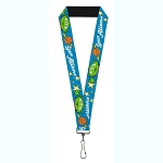 Disney Designer Lanyard - Toy Story Pizza Planet Space Aliens