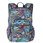 Disney Vera Bradley Bag - Mickey & Minnie Paisley Celebration - Campus Backpack