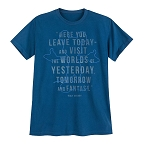Disney Adult Shirt - Walt Disney Quote - Here You Leave Today ...