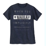 Disney Adult Shirt - Walt Disney Quote - When You Believe ...