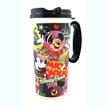 Disney Thermal Travel Mug Cup - Mickey Through the Years - Black Trim