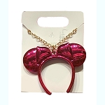 Disney Necklace - Minnie Mouse Ears Headband - Imagination Pink