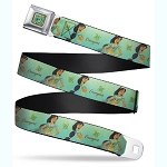 Disney Designer Seatbelt Belt - Jasmine Courageous - Disney Princess