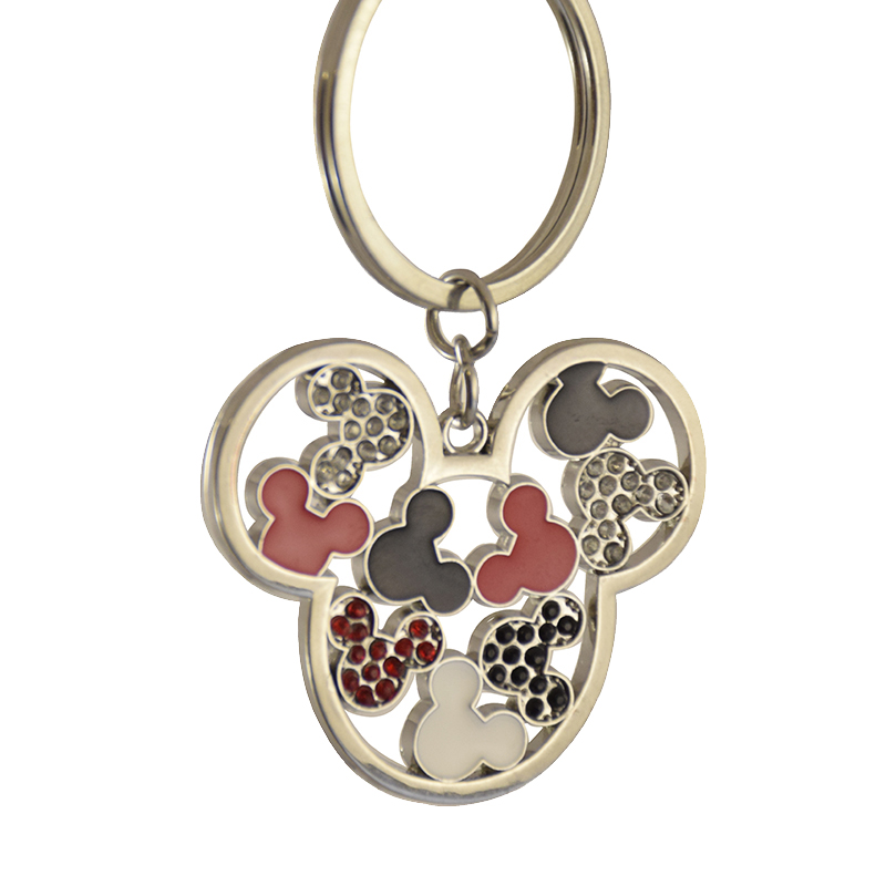 Disney Keychain Keyring - Jeweled Mickey Icons - Cut Out