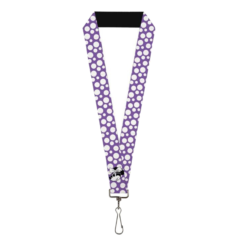 Disney Designer Lanyard - Minnie Mouse Multi Dots Purple