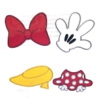 Disney Patch Set - Minnie Mouse Icons