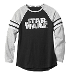 Disney Women's Shirt - Star Wars Logo - Raglan T-Shirt