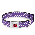 Disney Designer Pet Collar - Minnie Mouse Icons Purple