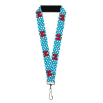 Disney Designer Lanyard - Minnie Mouse Bows And Dots