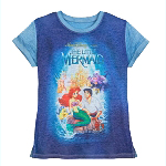 Disney Women's Shirt - The Little Mermaid VHS Cover - T-Shirt