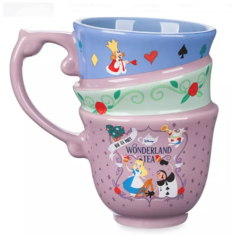 Disney Coffee Cup Mug - Alice in Wonderland Mad Tea Party