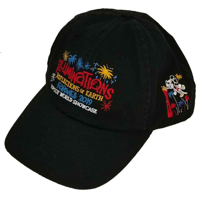 Disney Adult Baseball Cap Hat - Epcot Attraction - Farewell to Illuminations