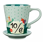 Disney Mug - Mad Tea Party - 10 / 6 - Attached Saucer