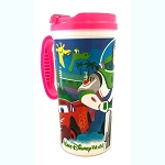 Disney Thermal Travel Mug - Disney Parks & Pixar Characters - Pink Trim