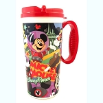 Disney Thermal Travel Mug Cup - Mickey Through the Years - Red Trim