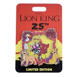 Disney Lion King Jumbo Pin - 25th Anniversary - Spinner Pin - Nala, Simba, Zazu
