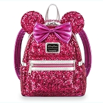 Disney Loungefly Mini Backpack - Minnie Mouse - Imagination Pink Sequin