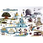 Disney Pop Up Sticker Card with Envelope - Retro Walt Disney World