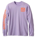 Disney Adult Shirt - Walt Disney World Logo - Long Sleeve Tee - Lavender