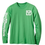 Disney Adult Shirt - Walt Disney World Logo - Long Sleeve Tee - Green